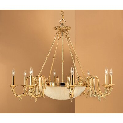 St. Moritz 8-Light Candle-Style Chandelier Finish: Gold