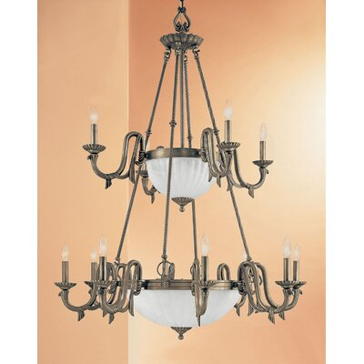 St. Moritz 17-Light Candle-Style Chandelier Finish: Gold
