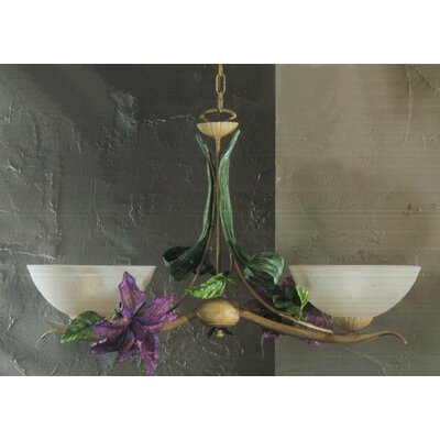 Floral 2-Light Bowl Pendant