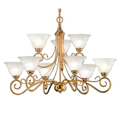 Torino 9-Light Shaded Chandelier