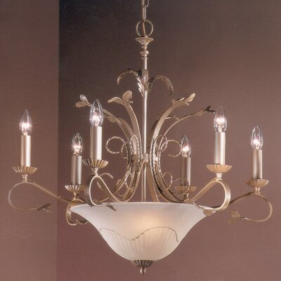 Treviso 9-Light Candle-Style Chandelier Finish: Pearlized Gold