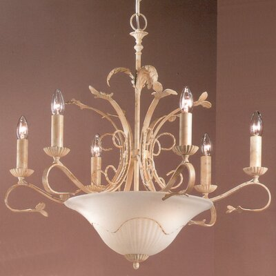 Treviso 9-Light Candle-Style Chandelier Finish: Ivory