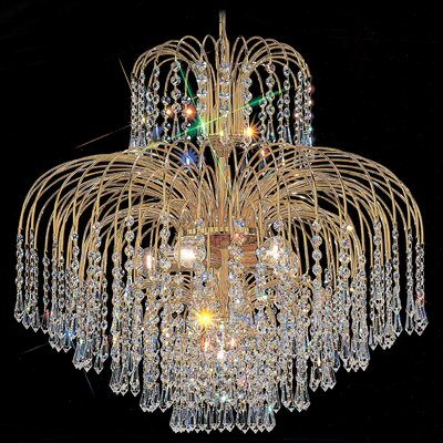 Sprays 6-Light Crystal Chandelier Crystal Type: Swarovski Elements Golden Teak
