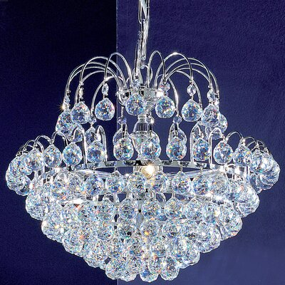 Diamante 5-Light Crystal Chandelier Crystal Type: Crystalique Plus