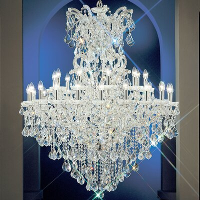 Maria Thersea 31-Light Crystal Chandelier Finish: Olde World Gold, Crystal Type: Swarovski Elements