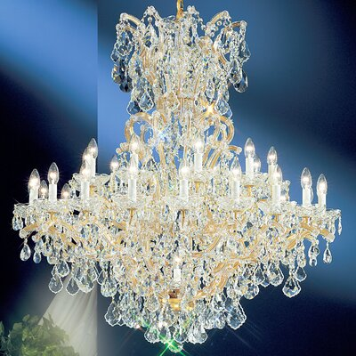 Maria Thersea 31-Light Crystal Chandelier Crystal Type: Swarovski Spectra, Finish: Olde World Gold
