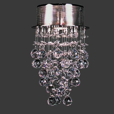 Andromeda 1-Light Flush Mount Size: 12 H x 8 W x 8 D