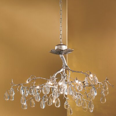 Morning Dew 12-Light Crystal Chandelier Crystal Type: Without Crystal, Finish: Silver Frost