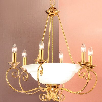 Portofino 9-Light Shaded Chandelier Finish: Gold
