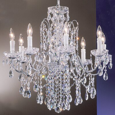 Letitia 8-Light Crystal Chandelier Finish: Gold Plated, Crystal Type: Swarovski Spectra