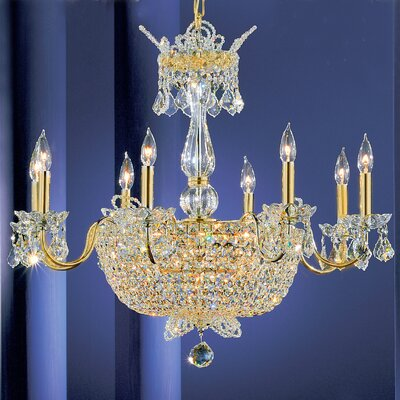 Crown Jewels 24-Light Crystal Chandelier Finish: Gold Plated, Crystal Type: Swarovski Elements