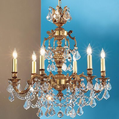 Chateau Imperial 5-Light Crystal Chandelier Finish: French Gold, Crystal Type: Crystalique-Plus