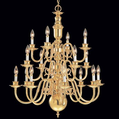 Yorktown 16-Light Candle-Style Chandelier