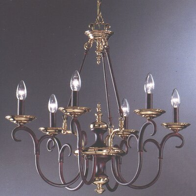 Monaco 6-Light Candle-Style Chandelier