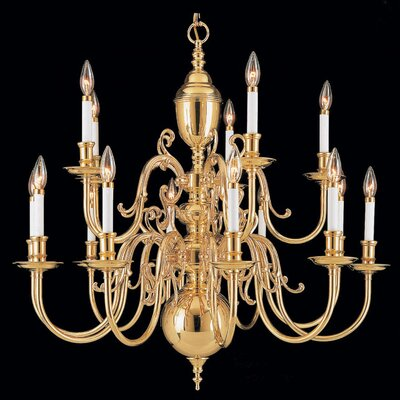 Hermitage 15-Light Candle-Style Chandelier
