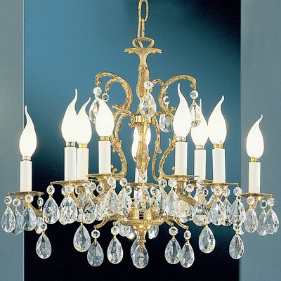 Barcelona 10-Light Crystal Chandelier Crystal: Italian, Finish: Olde World Bronze
