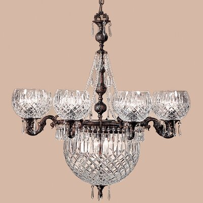 Waterbury 12-Light Shaded Chandelier Crystal Color: Crystalique Black