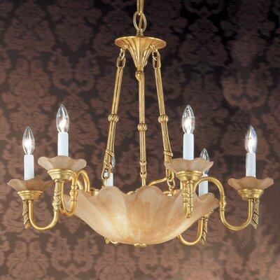 Atlantis 6-Light Candle-Style Chandelier Finish: Honey Bronze
