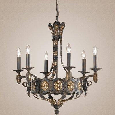 Castillio de Bronce 6-Light Candle-Style Chandelier