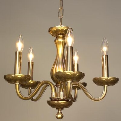 Monaco 5-Light Candle-Style Chandelier Finish: White