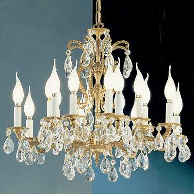 Barcelona 16-Light Crystal Chandelier Crystal: Italian, Finish: Olde World Bronze