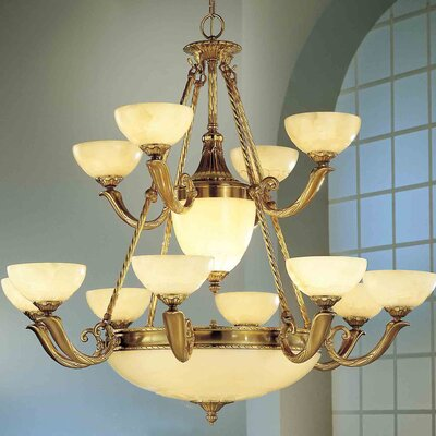 Valencia 17-Light Shaded Chandelier Finish: Antique Bronze
