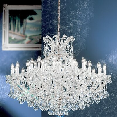 Maria Theresa 31-Light Crystal Chandelier Finish: Chrome, Crystal: Swarovski Strass