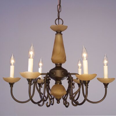 Bloomington 6-Light Candle-Style Chandelier Finish: Verde Bronze