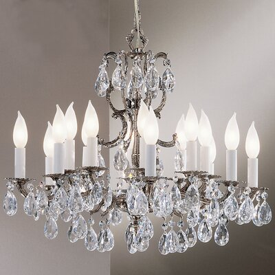 Barcelona 16-Light Crystal Chandelier Crystal: Crystalique, Finish: Millenium Silver