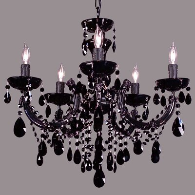 Rialto 5-Light Crystal Chandelier Finish: Gold Plated, Crystal: Swarovski Strass