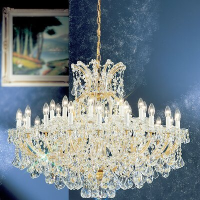 Maria Theresa 31-Light Crystal Chandelier Crystal: Crystalique, Finish: Old World Gold