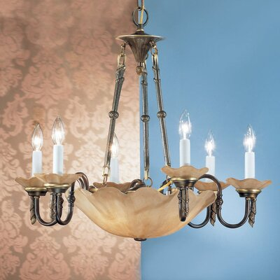 Atlantis 6-Light Candle-Style Chandelier Finish: Matte Bronze