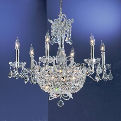 Crown Jewels 6-Light Crystal Chandelier Finish: Chrome, Crystal: Swarovski Strass