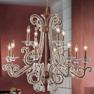 Concerto 12-Light Crystal Chandelier