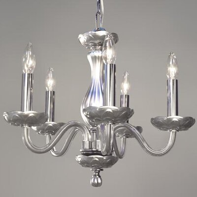 Monaco 5-Light Candle-Style Chandelier Finish: Silver Painted