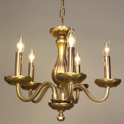 Monaco 5-Light Candle-Style Chandelier Finish: Gold Painted