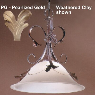Treviso 1-Light Inverted Pendant Finish: Pearlized Gold