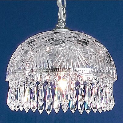 Prague 1-Light Bowl Pendant Finish: Chrome, Crystal Type: Swarovski Elements