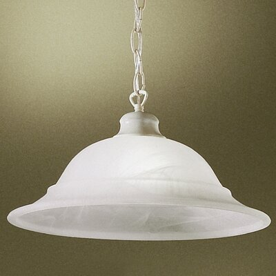 Glendale 1-Light Pendant Finish: Sand White