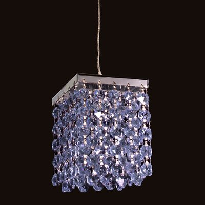 Bedazzle 1-Light Mini Pendant Shade Color: Sapphire