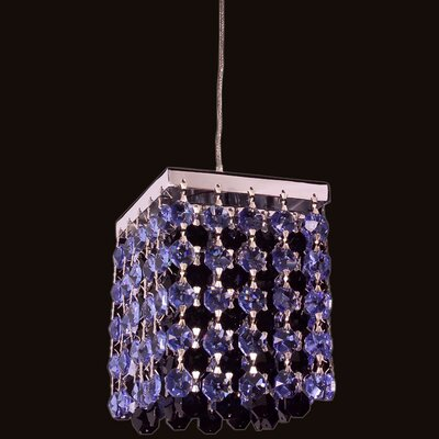 Bedazzle 1-Light Mini Pendant Shade Color: Sapphire and Black