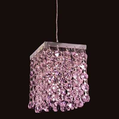 Bedazzle 1-Light Mini Pendant Shade Color: Pink