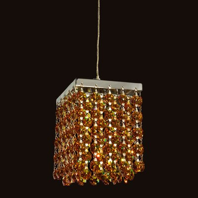 Bedazzle 1-Light Mini Pendant Shade Color: Topaz