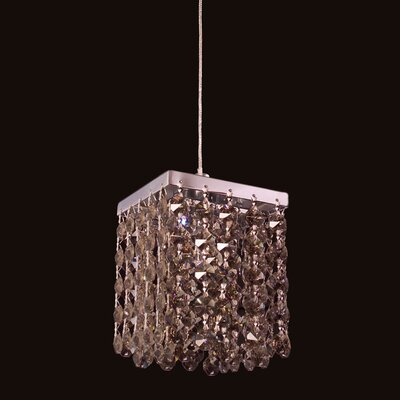 Bedazzle 1-Light Mini Pendant Shade Color: Golden Teak