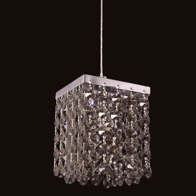Bedazzle 1-Light Mini Pendant Shade Color: Smoke