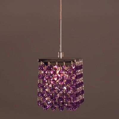 Bedazzle 1-Light Mini Pendant Shade Color: Violet