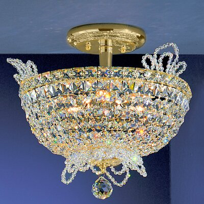 Crown Jewels 6-Light Semi-Flush Mount Crystal Type: Swarovski Spectra