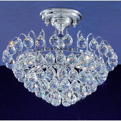 Diamante 3-Light Semi-Flush Mount Crystal Type: Swarovski Elements
