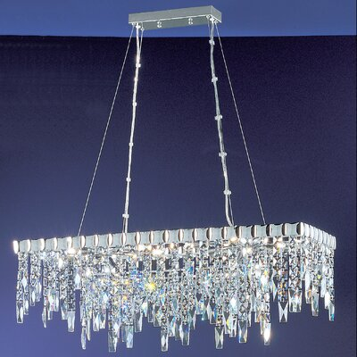 Uptown 10-Light Kitchen Island Pendant Crystal: Crystalique Plus