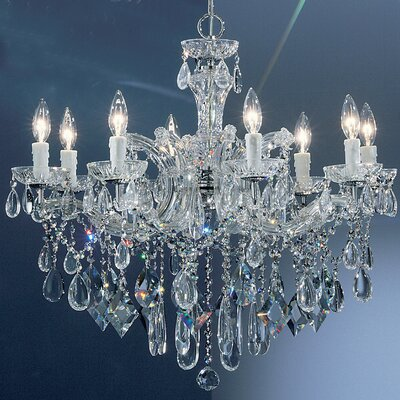Rialto 8-Light Crystal Chandelier Finish: Chrome